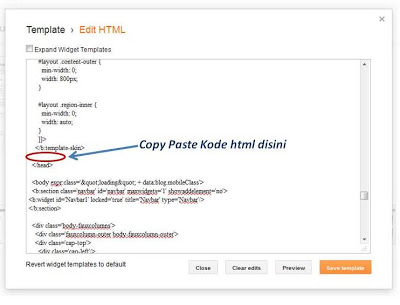 tempat letak kode related post