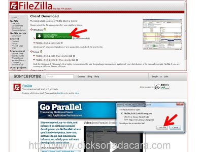 download filezilla (FTP client)