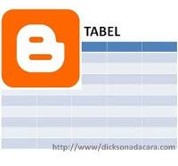 membuat tabel untuk blogger dengan microsoft word