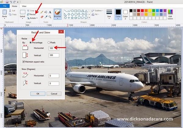 Cara Memperkecil Ukuran Foto dengan Ms Paint (Cara Crop dan Edit Foto)