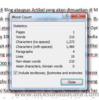 Cara Menghitung Jumlah Kata dengan Microsoft Word