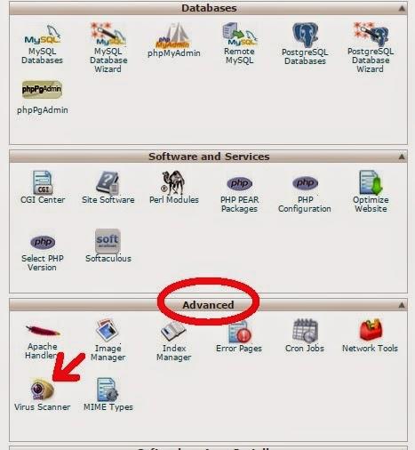 Cara Scan Virus di Cpanel untuk meningkatkan keamanan blog kita