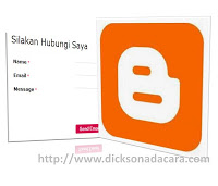 add contact us at blogspot