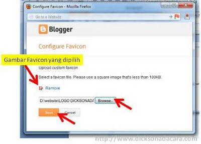 konfigurasi favicon blogger