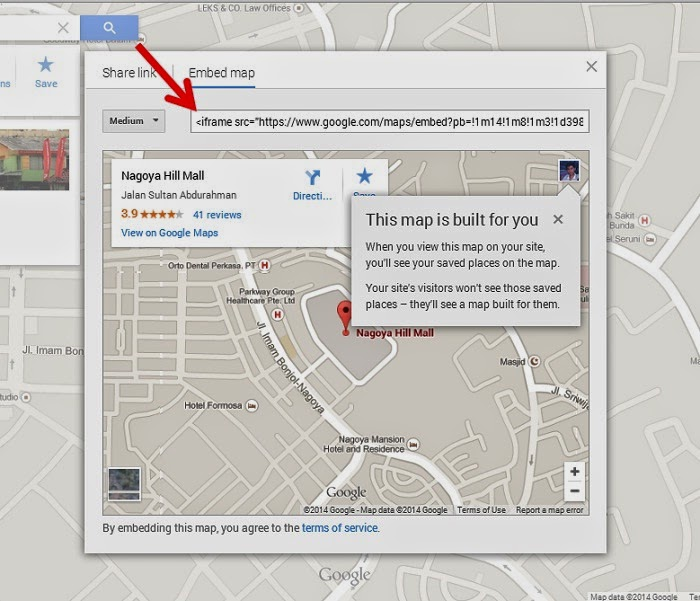 Cara Memasang dan Menampilkan Peta Google Map di Website (Blogspot/Wordpress)