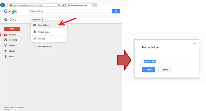 Membuat New Folder di Google Drive