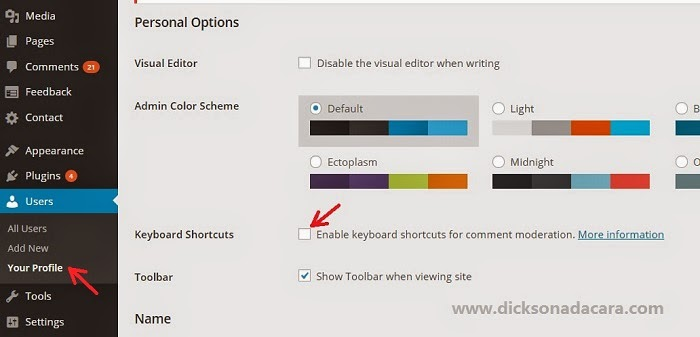 Shortcut Keyboard pada WordPress untuk Visual Editor dan Moderasi Komentar